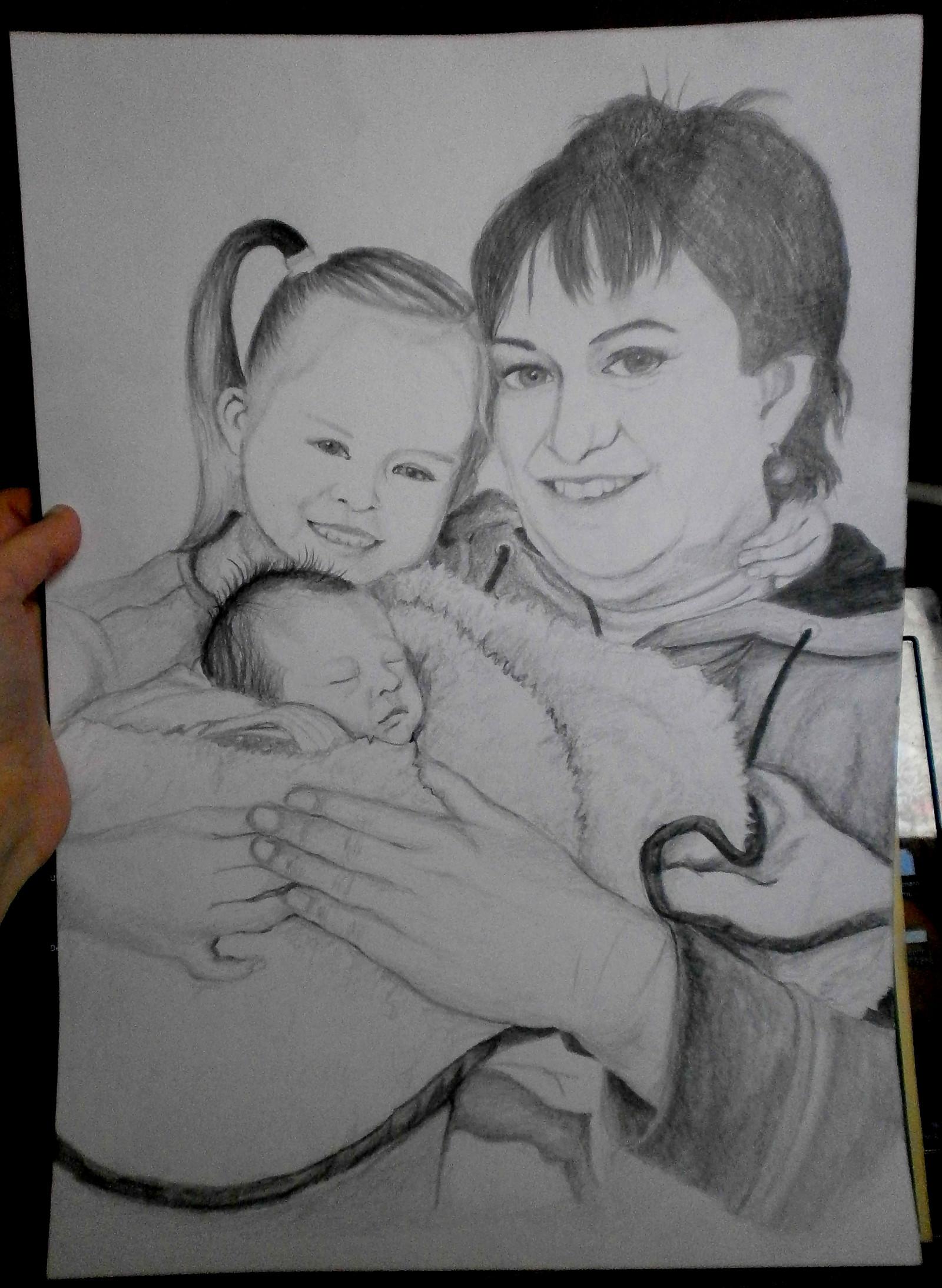 Portret Dle Vasi Fotografie Kresba Tuzkou Format A3 Zbozi