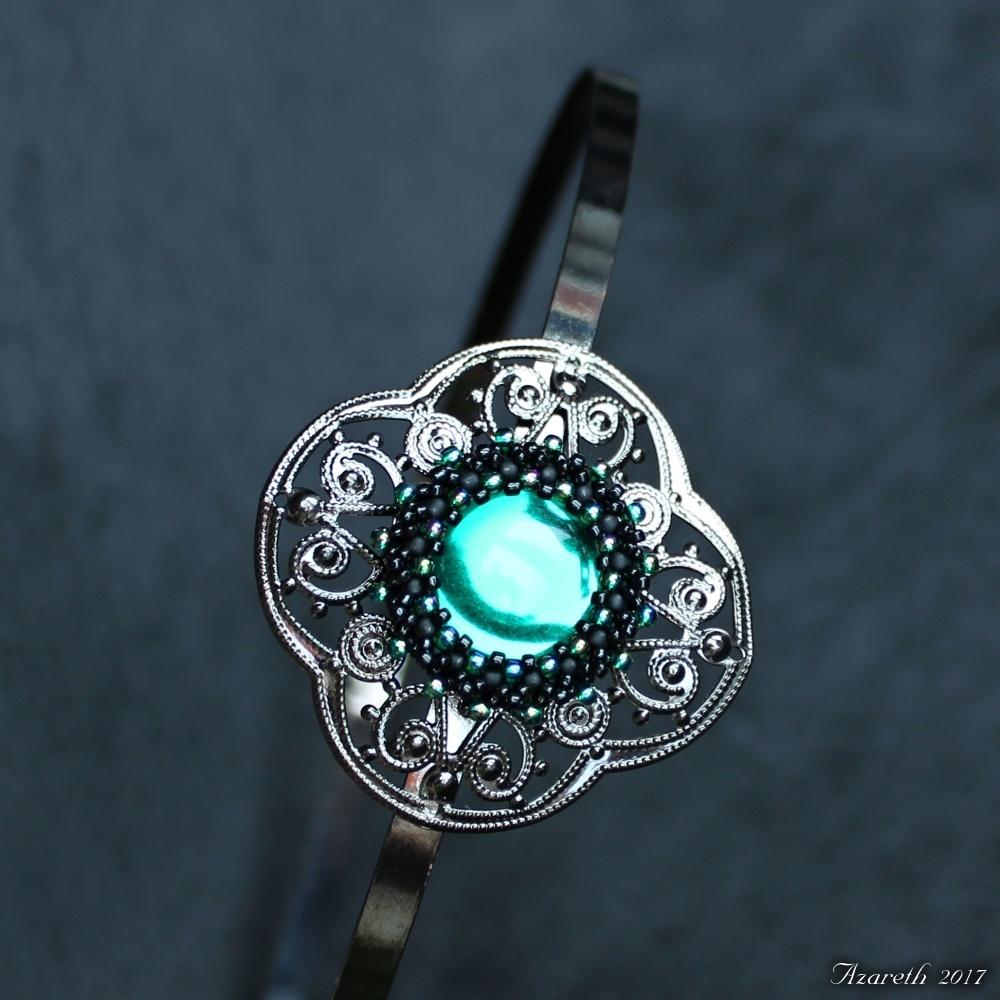 Čelenka Smaragdová noc   Zboží prodejce Azareth  88e8f6cbca