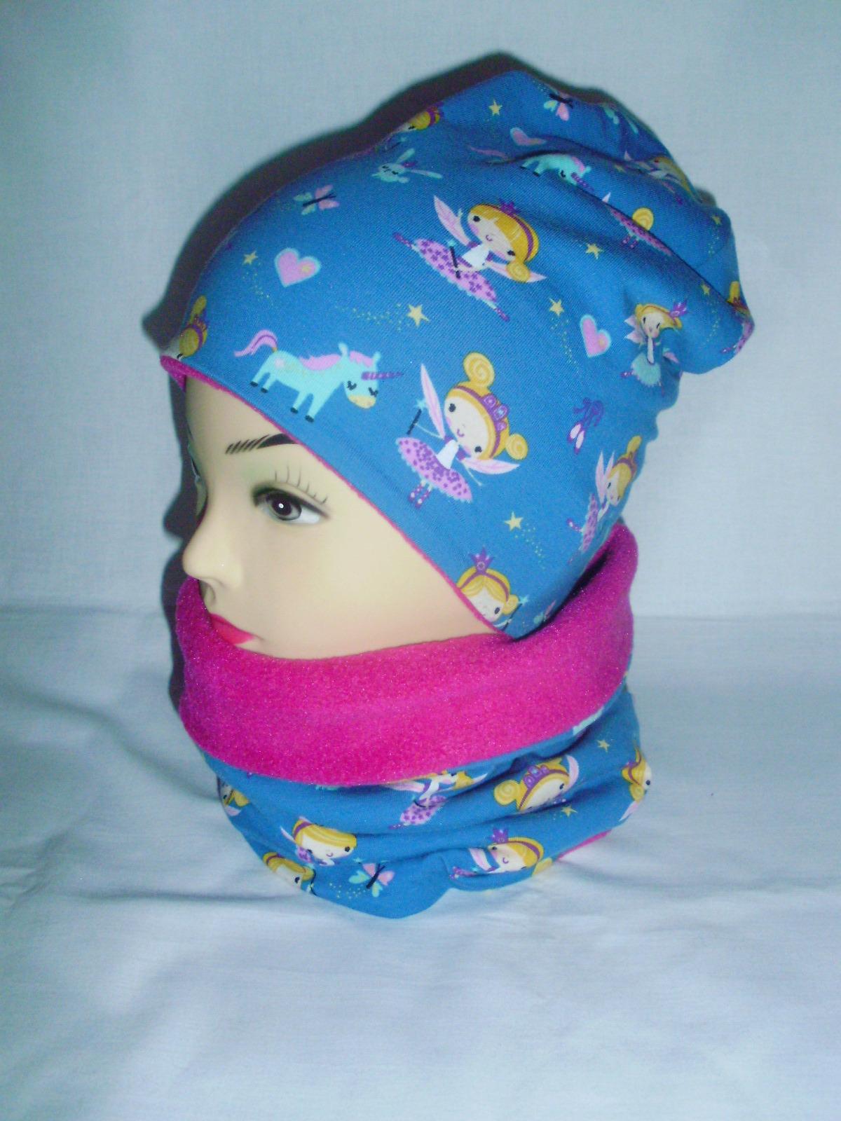 Zimní oboustranná čepice vzor princezny   Zboží prodejce M.B.Design ... 4e57eca8c1