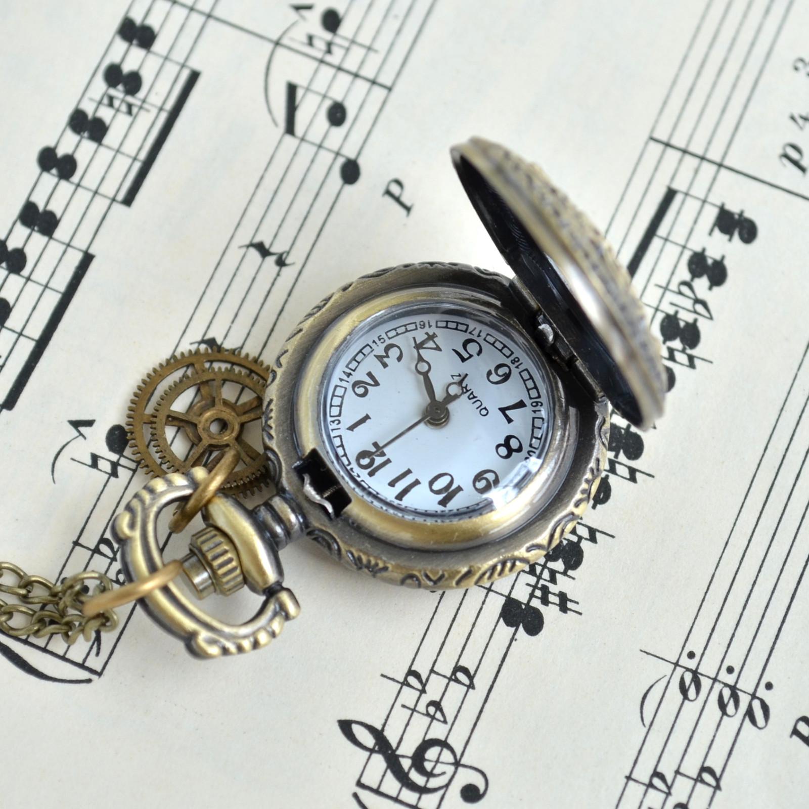 200597f34 DÁMSKÉ HODINKY NA KRK, hodinkový náhrdelník / Zboží prodejce pupo ...