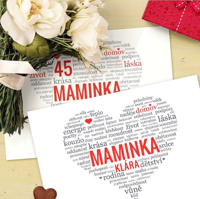 dárek mamince k narozeninám Obraz pro maminku   dárek k narozeninám (No.73a) (maminčino jméno  dárek mamince k narozeninám