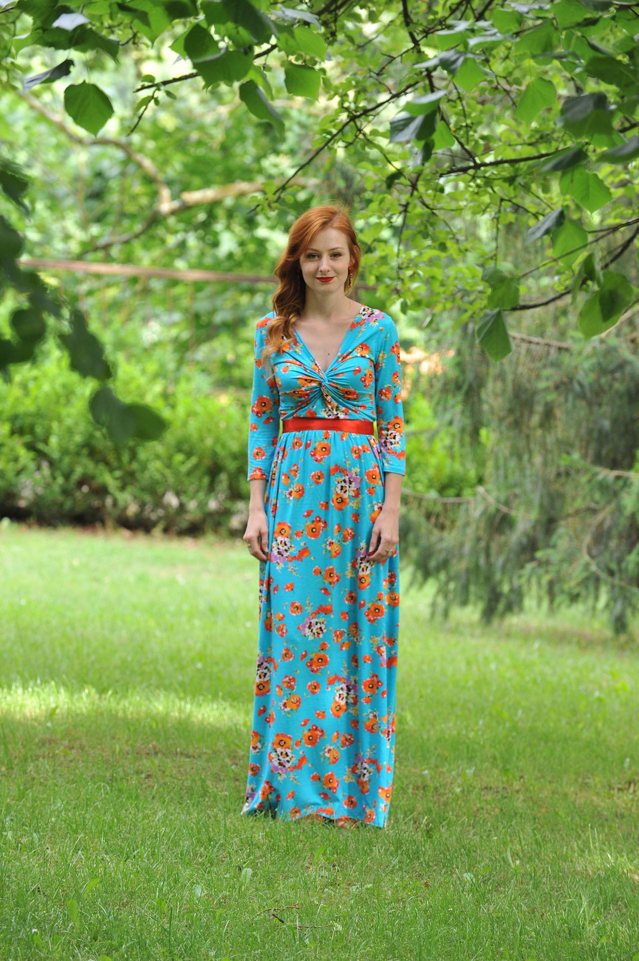 Dlouhé šaty Anett Princess - makové   Zboží prodejce INDIVA  2d2c2b1349