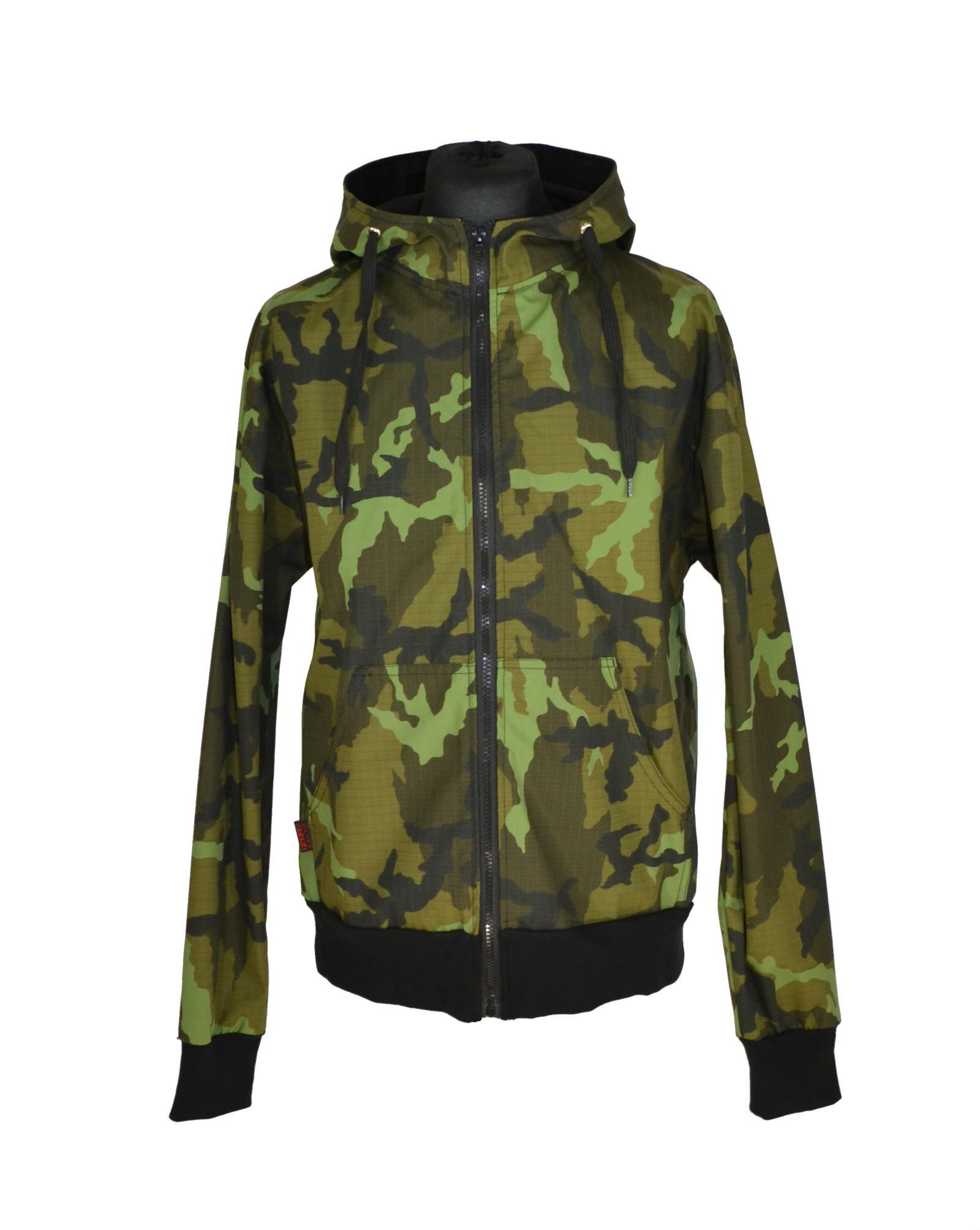Punk černá celoroční bunda maskáčová   Zboží prodejce Shara OiPunk ... 52c2850549b