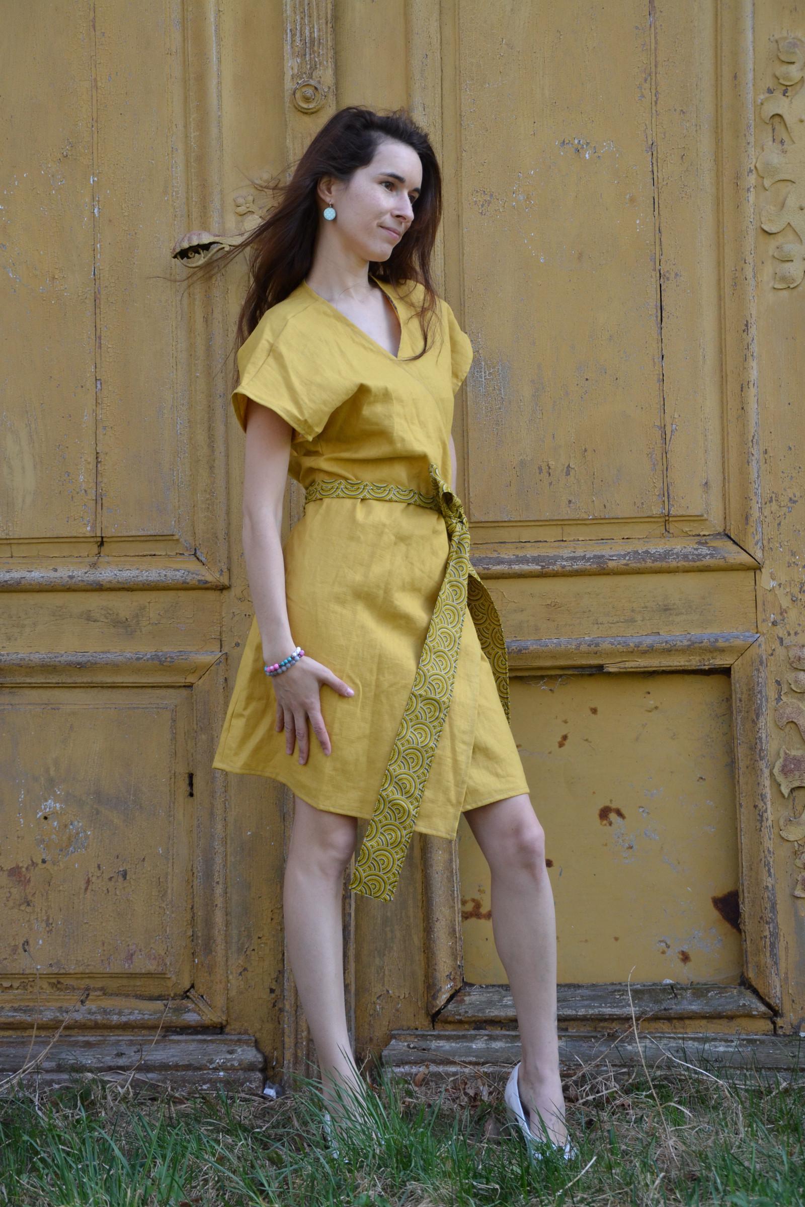 Zavinovací šaty lněné   Zboží prodejce ajvi  eae8646069
