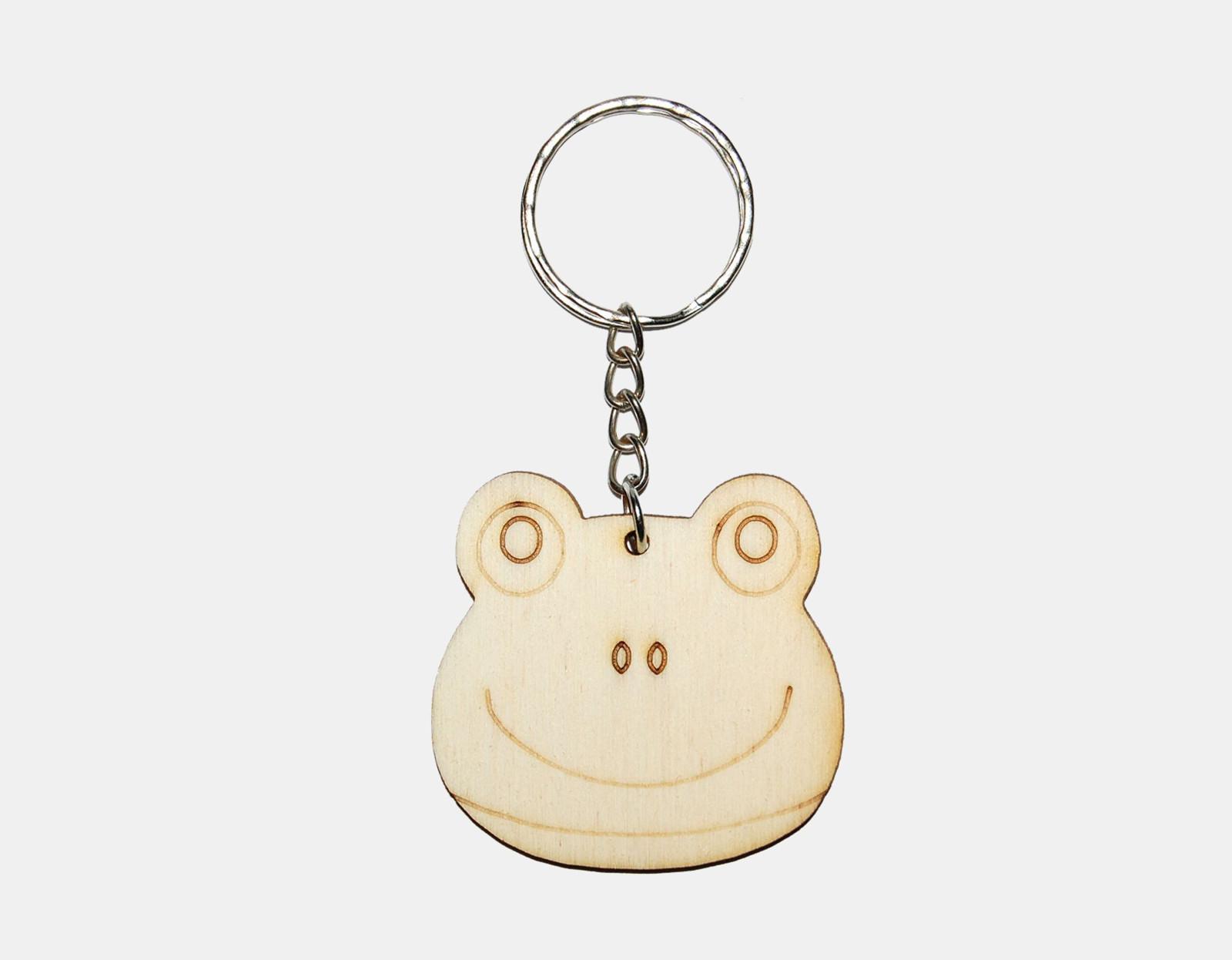 3c2679d82 Dřevěná žabka - přívešek na klíče / Zboží prodejce Ozdoby ze dřeva ...