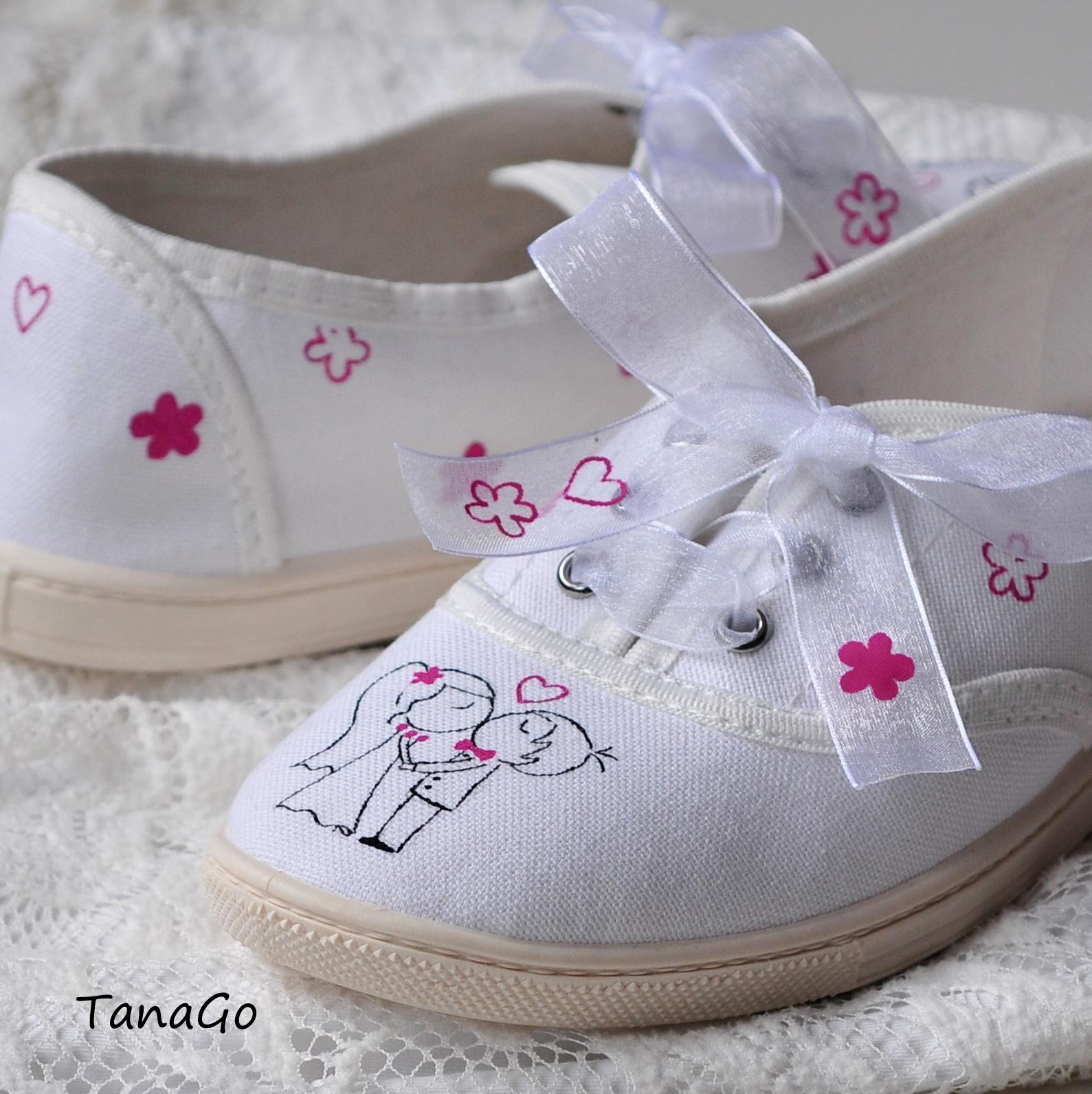 Svatební tenisky s malinovou růžovou   Zboží prodejce TanaGo  20fb381017