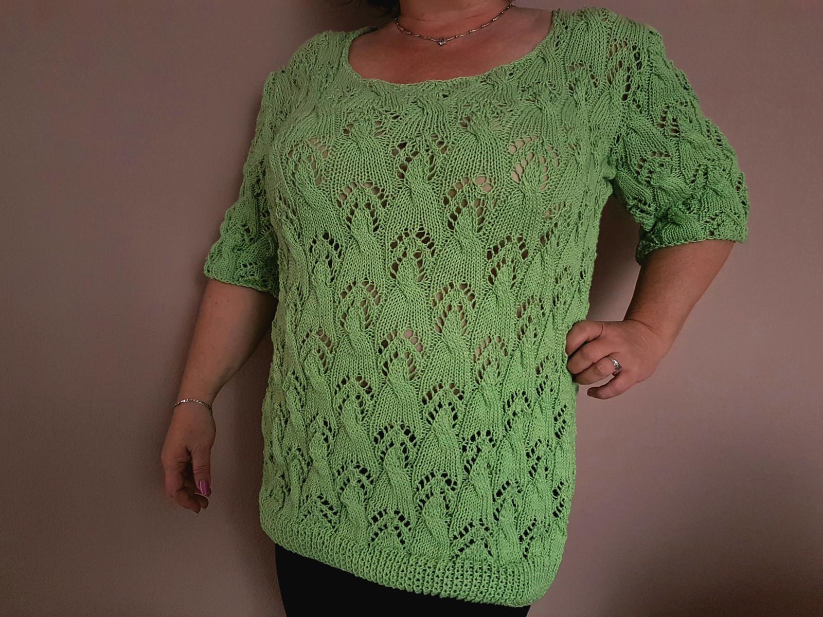 2332decf9f98 Dámský ručně pletený svetr z bavlněné příze   Zboží prodejce Jenkie ...