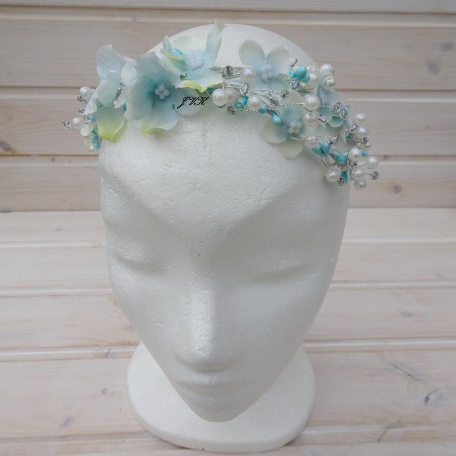 Věneček do vlasů Hortenzie   Zboží prodejce Bereniké Flowers  be0ea08c66