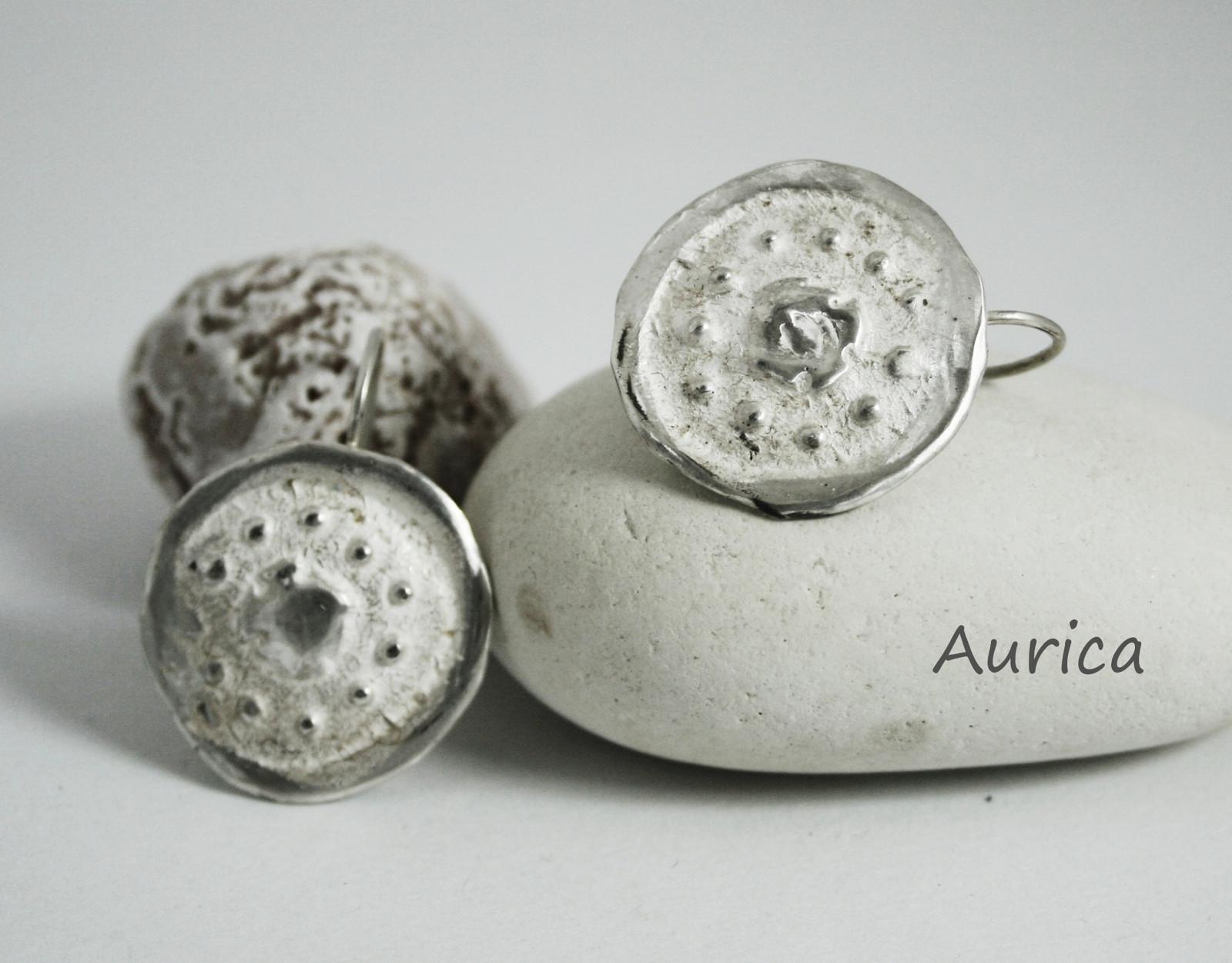 Stříbrné náušnice - Kolečka II   Zboží prodejce Aurica  31b1b4fda2e