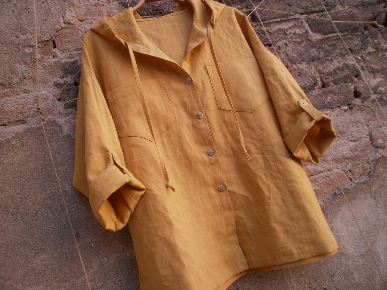 Lněná košile s kapucí   Zboží prodejce yrisi  45292b04c1