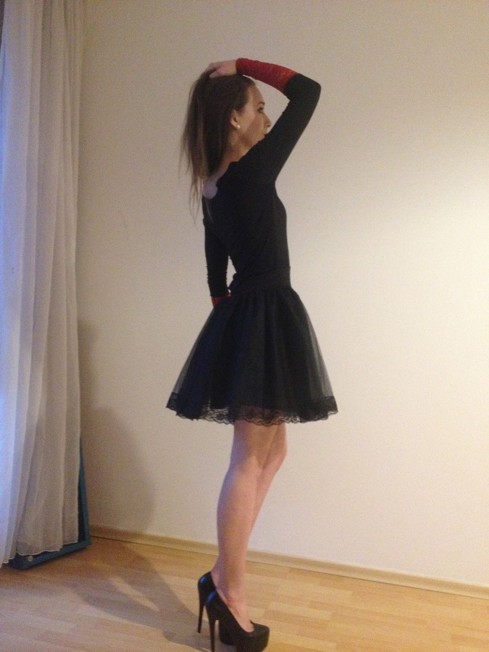 Černá krajková tylová sukně se spodničkou   Zboží prodejce atelier ... 509a1f3f98