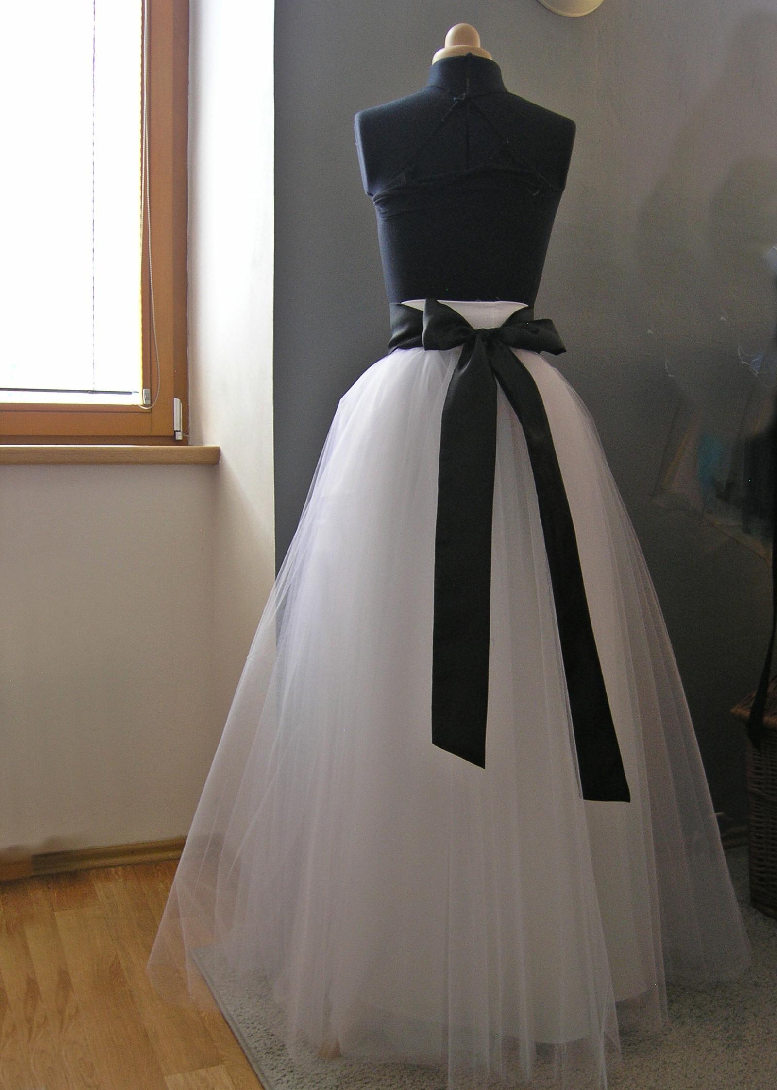 063de23908f7 Svatební sukně + šitá stuha barva na přání   Zboží prodejce ceasara ...