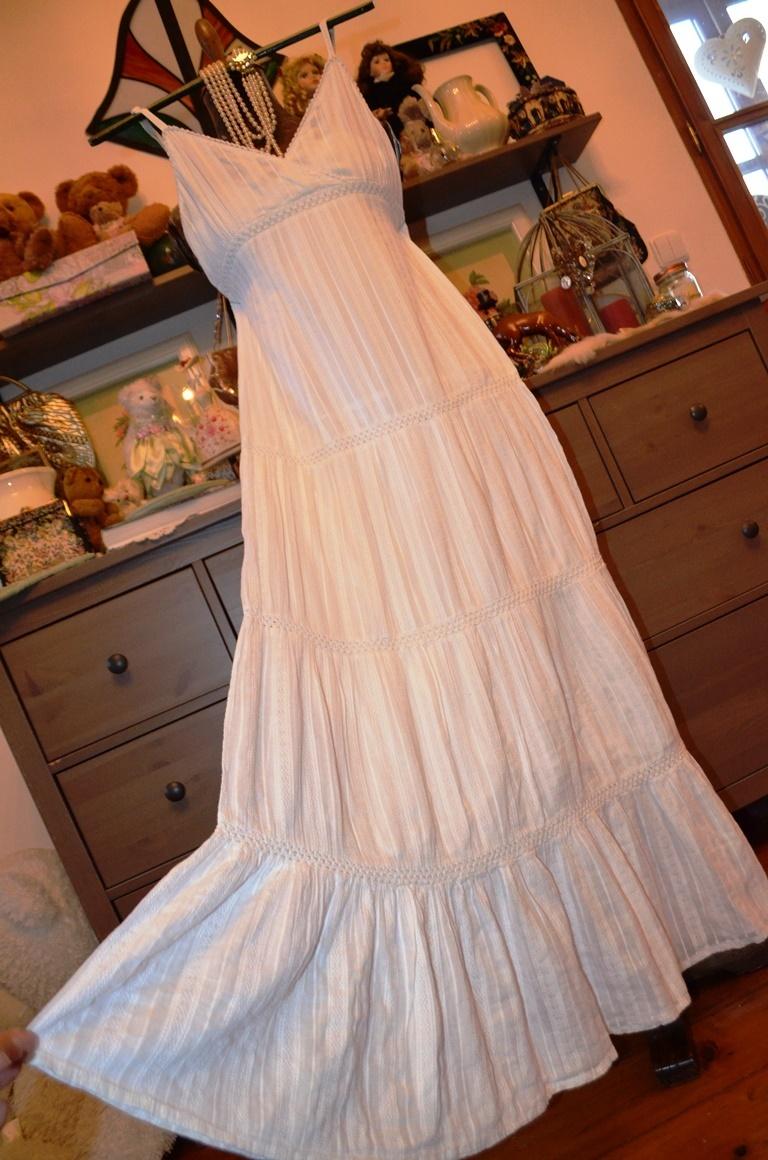 Báječné dlouhé bílé bavlněné šaty   Zboží prodejce Panská dílna ... 374fbe6150
