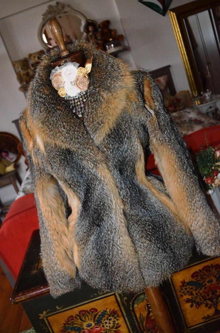b40b7c1a137 Luxusní pravý kožich z jezerní lišky   Zboží prodejce Panská dílna ...