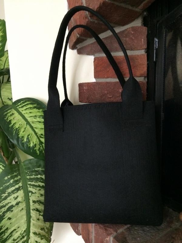 EKO filcová kabelka černá + DAREK   Zboží prodejce Evaida  3e8118a6c2e