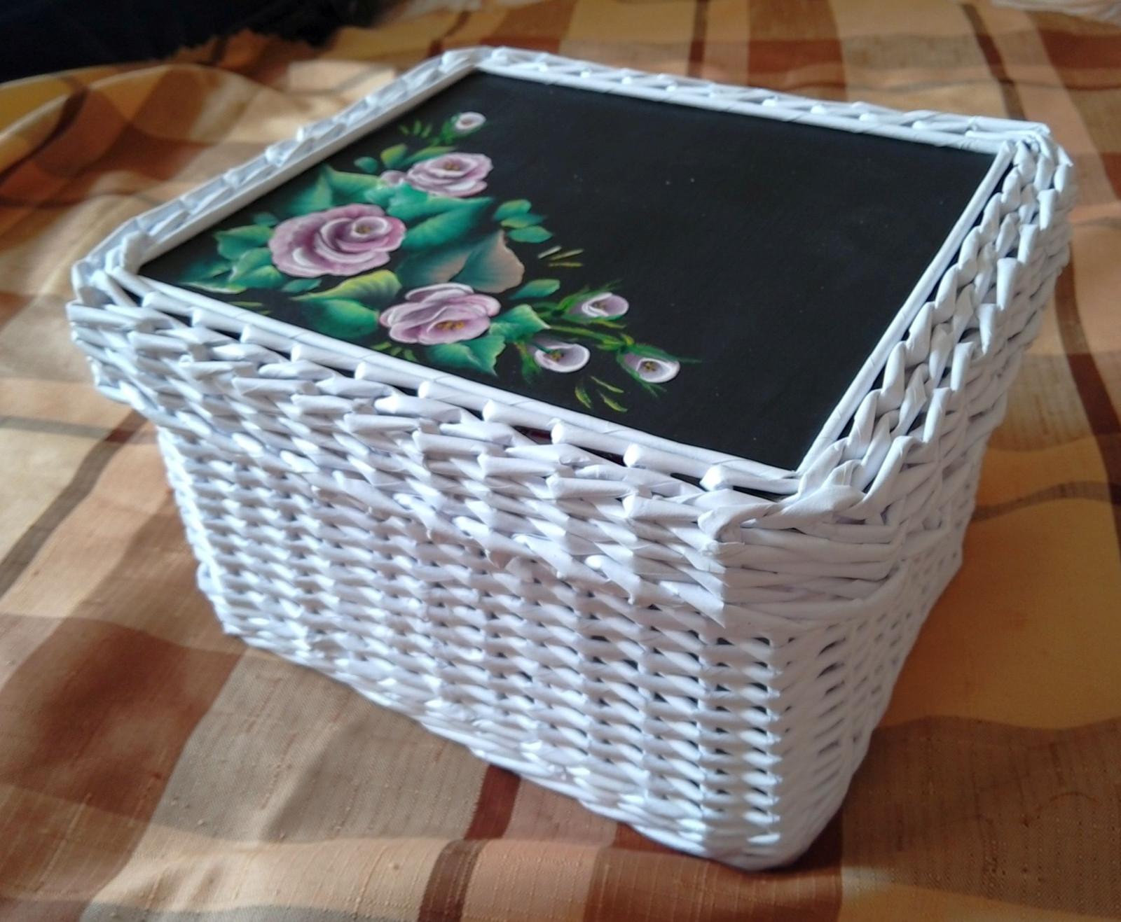 fbeba234b Ozdobná krabička pletená z papíru / Zboží prodejce JanPet | Fler.cz