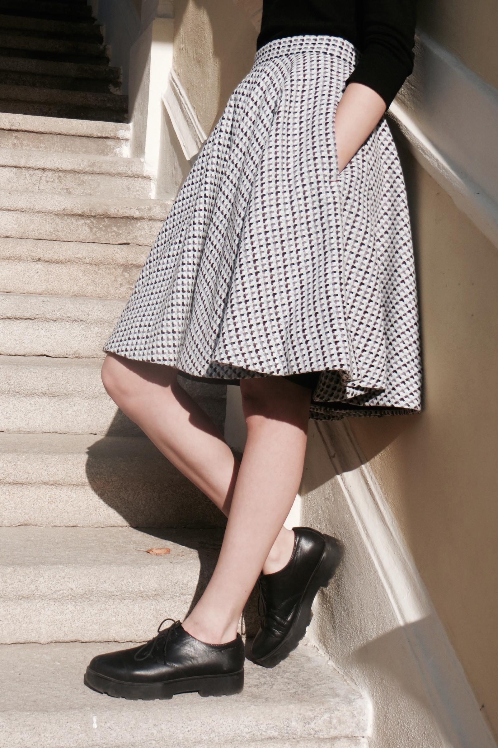 f74e688915c Zimní vlněná kolová sukně s podšívkou - na zakázku   Zboží prodejce ...