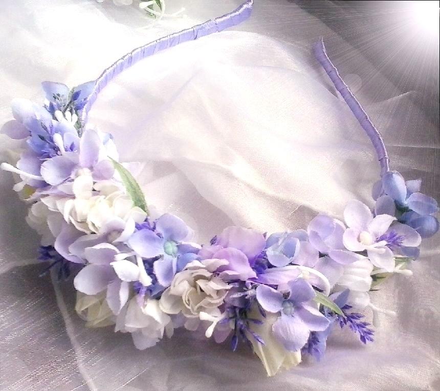 čelenka z látkových květů s levandulí   Zboží prodejce verixlenka ... 23c5e6ad8f