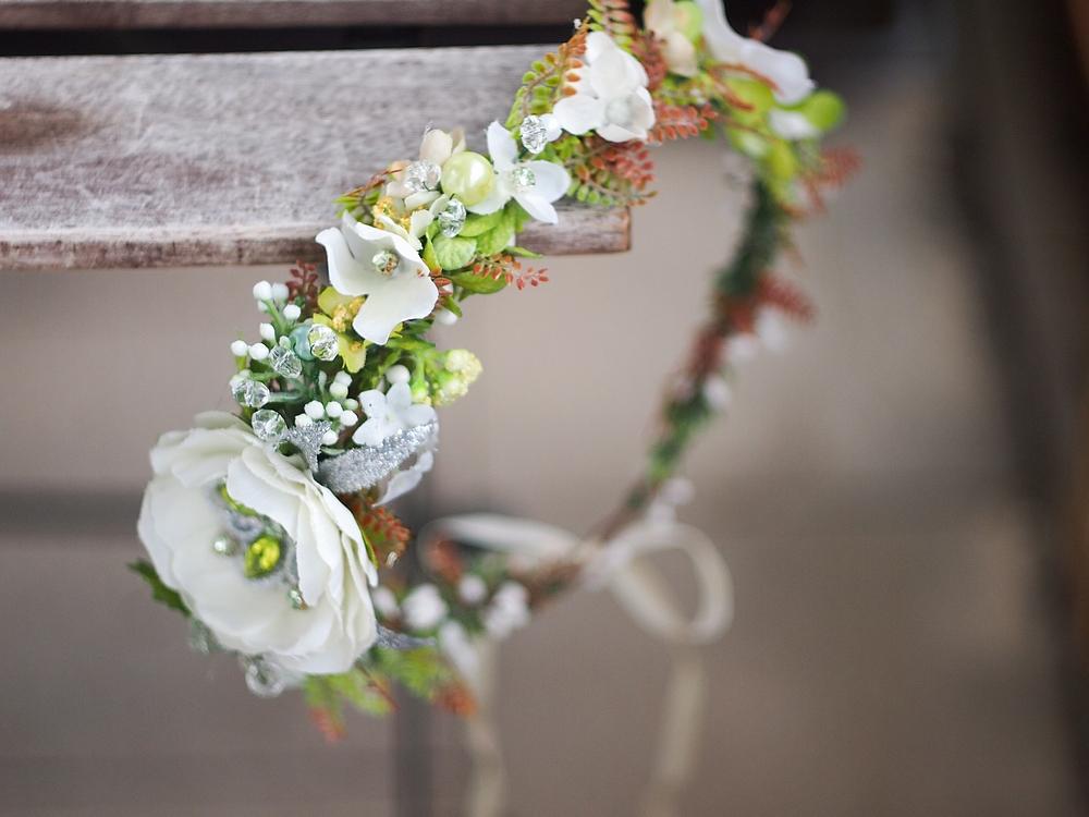 83207ee2dae lesní svatební věneček se štrasem a perlami   Zboží prodejce jitkita ...
