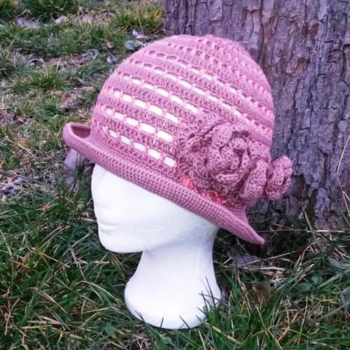 091ffd02a12 Letní háčkovaný klobouk na přání   Zboží prodejce eva.mak