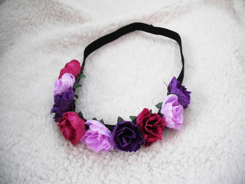Květinová čelenka do vlasů fuschia   Zboží prodejce angelieenka ... bc6c005d82