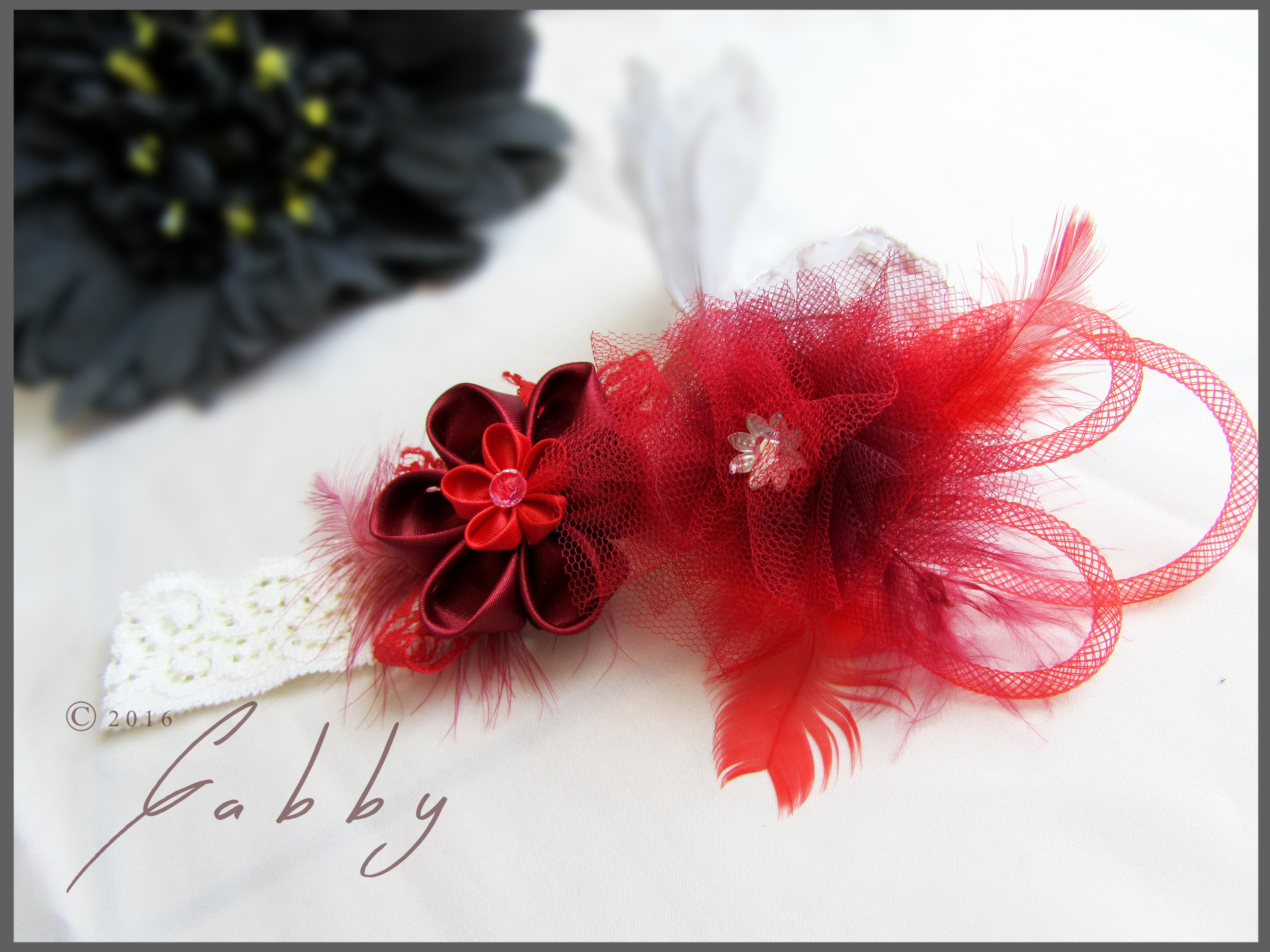 Ozdobná čelenka pro miminka  newborn (červená)   Zboží prodejce ... dce6c664fa