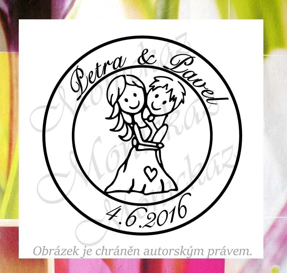 Svatební č. 23 kolečko. Omyvatelné razítko.   Zboží prodejce ... de88078d6d5