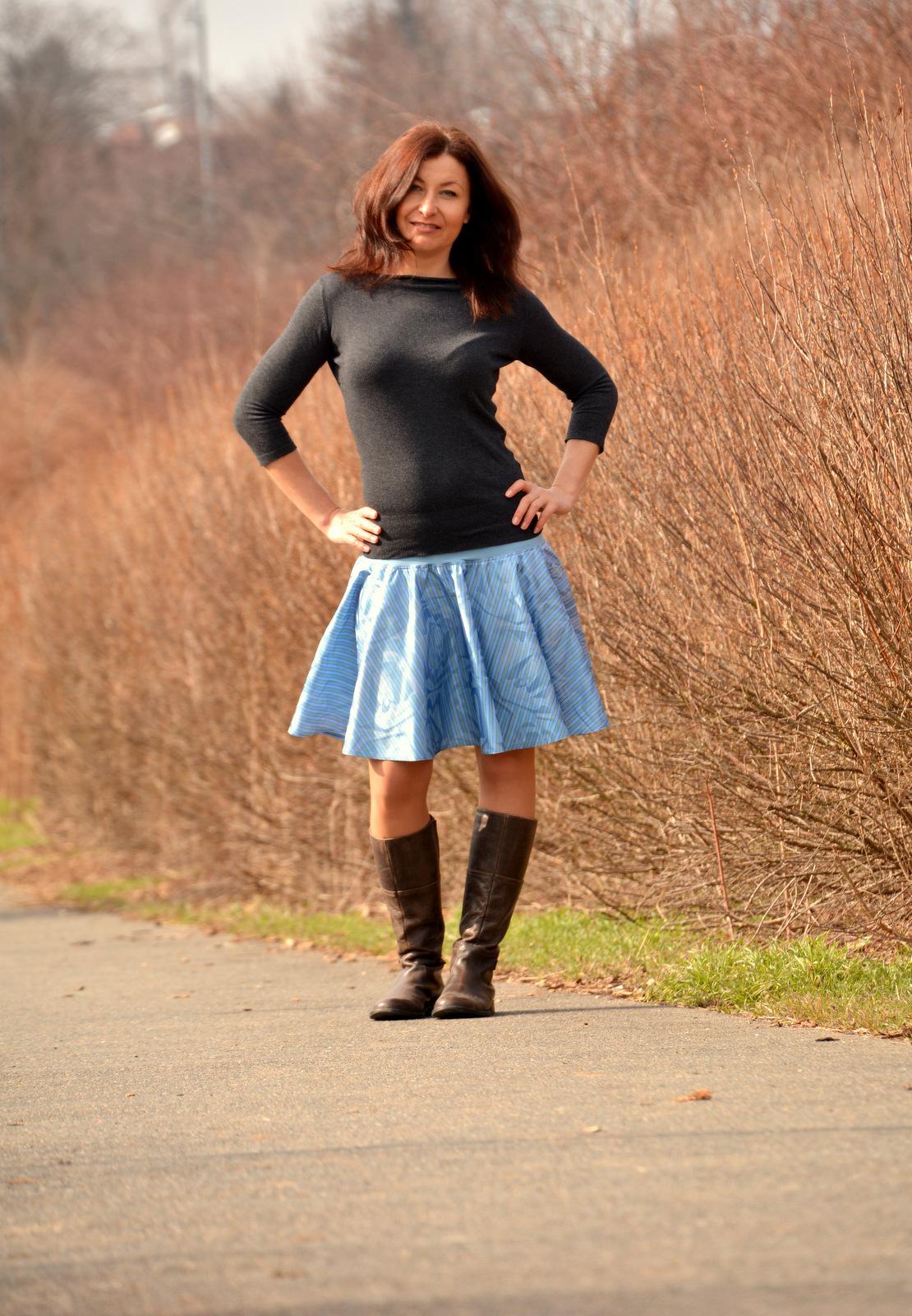 a292f0b70cc3 Sukně kolová z žakárové bavlny   Zboží prodejce Pocket Design