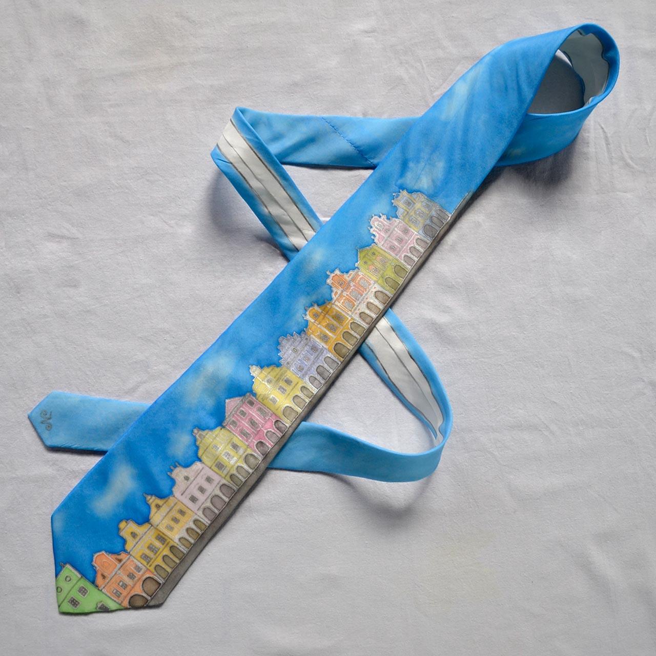 Kravata Telč - azurově modrá s obláčky   Zboží prodejce dzejn.n ... 0780ab3220