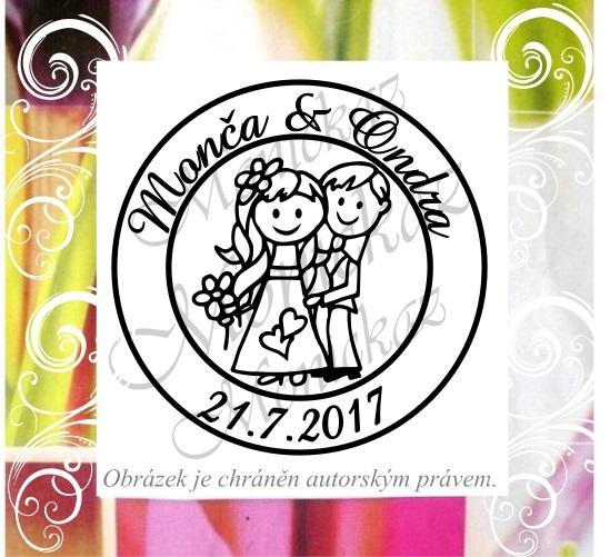Svatební č. 22 kolečko. Omyvatelné razítko.   Zboží prodejce ... b2df6472362
