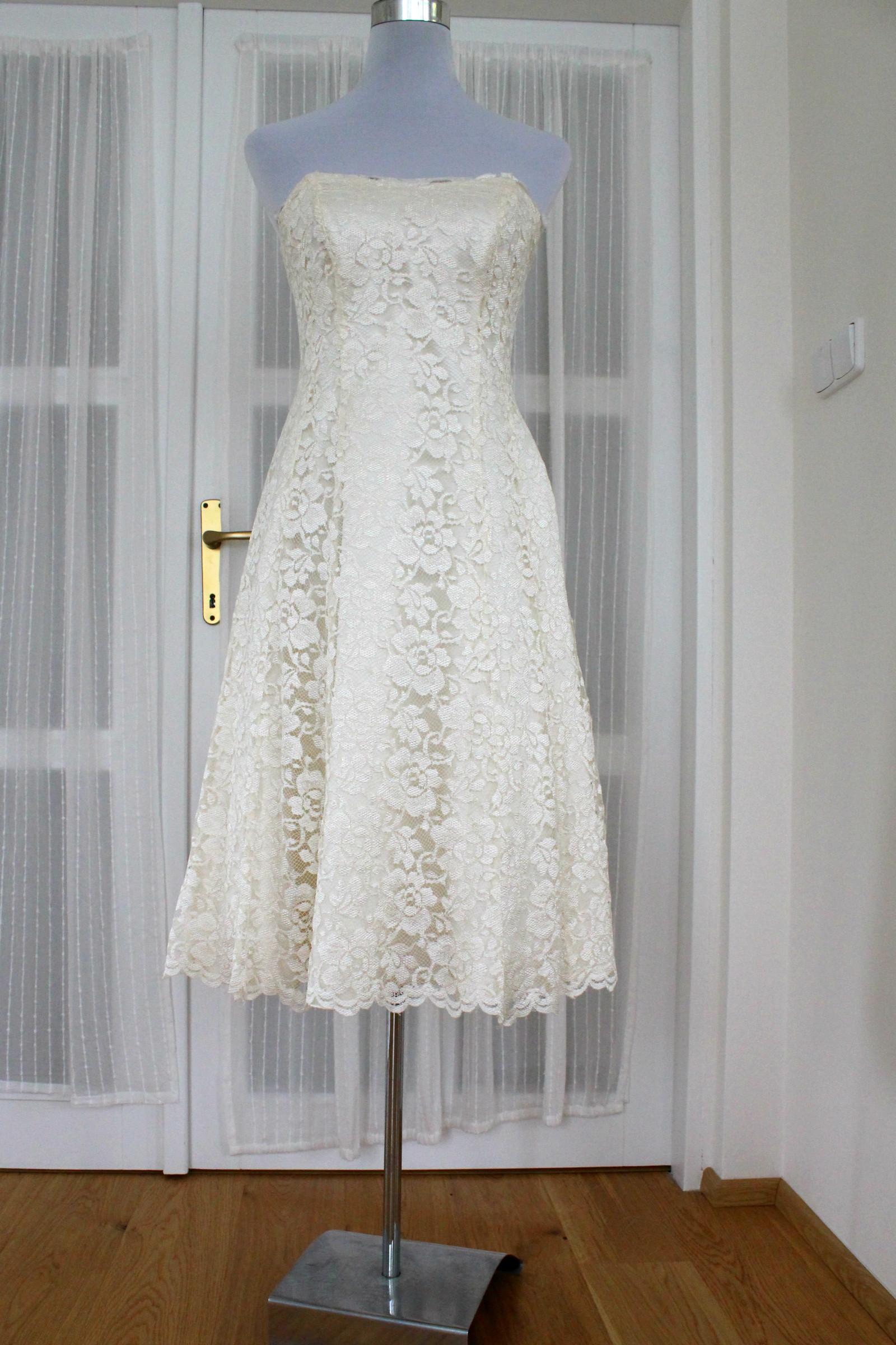Svatební společenské šaty smetanové vel. S 36   Zboží prodejce ... fe11c1bd79
