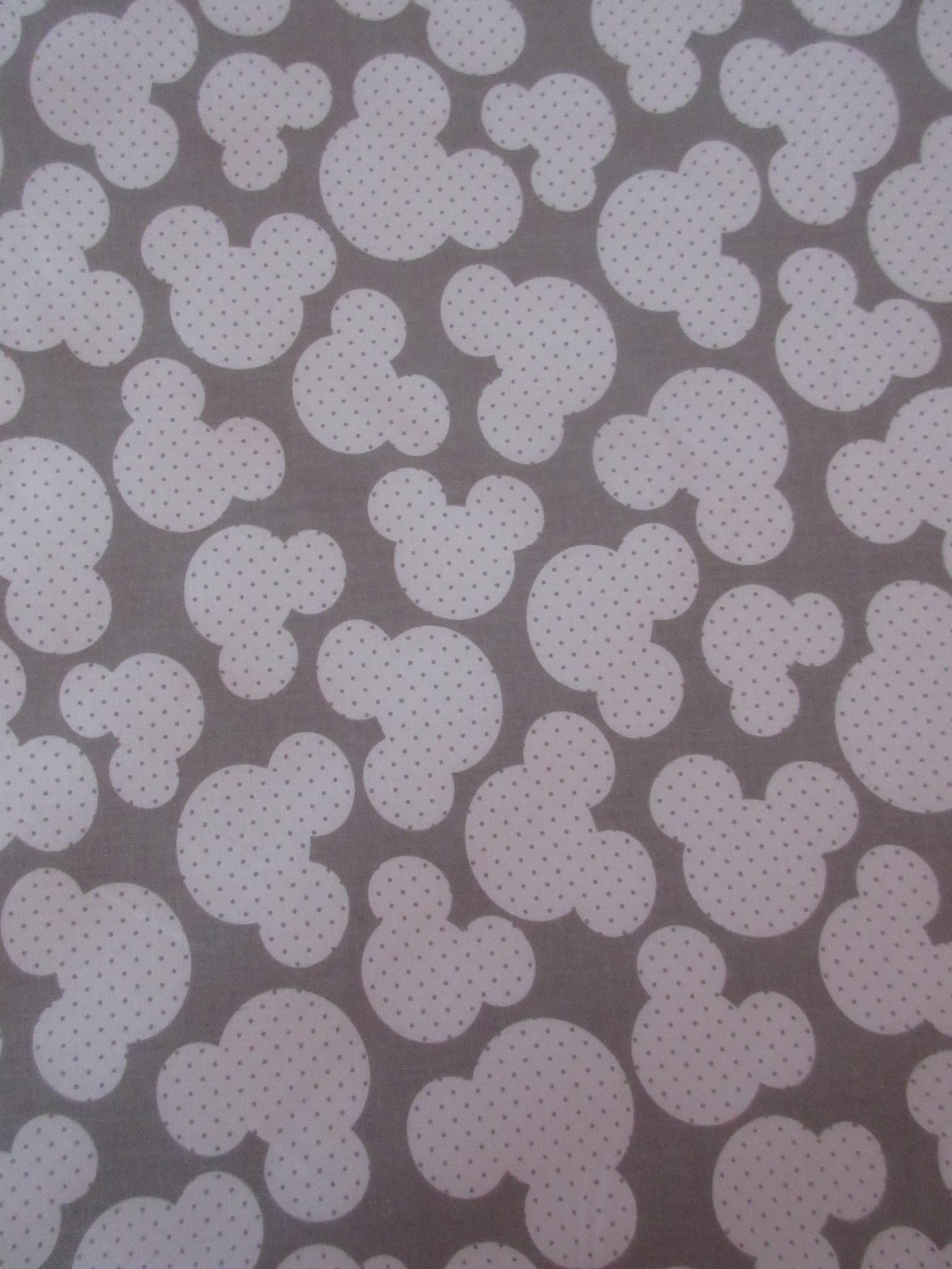 ab45f4a9c0ce Dekorační látka metráž Mickey šedá   Zboží prodejce Naše mimi