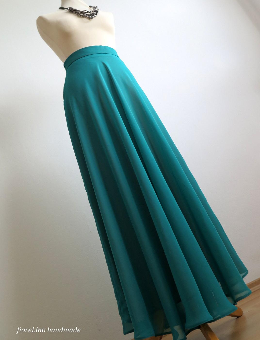 d2ecba9f48a romantická dlouhá sukně - v smaragdové zelené   Zboží prodejce ...