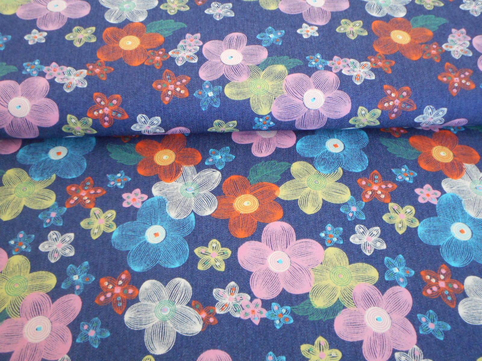 8742881726b0 Elast. riflovina - barevné kytičky   Zboží prodejce Kimi Hobby