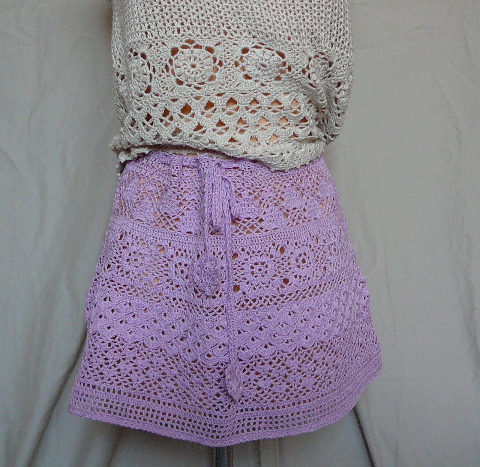 505d66f7e9b Háčkovaná minisukně v barvě lila   Zboží prodejce cooltextil