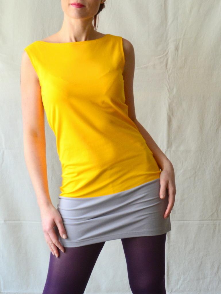 Žlutošedé šaty   Zboží prodejce Petrushe  72442ce01e