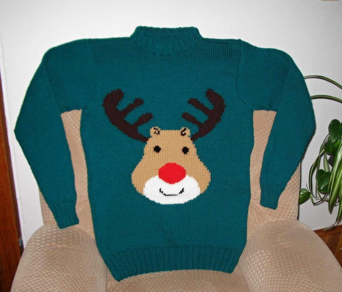 Pánský svetr se sobem na přání   Zboží prodejce Ludmílek  36029ac503