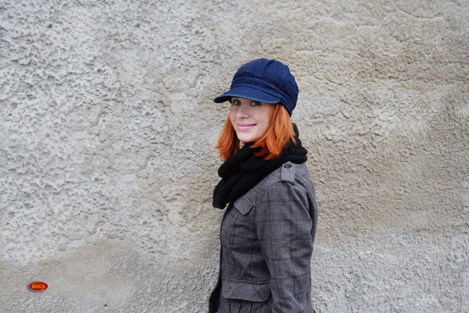 98b09a00fd8 unisex riflová bekovka s pevným kšiltem a fleecem (obvod 55-57cm)   Zboží  prodejce BOGY - Janečková Petra