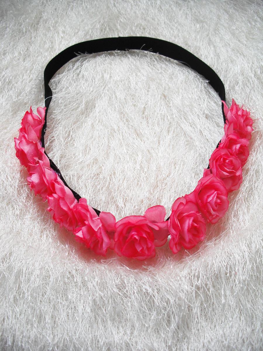 Květinová čelenka do vlasů růžovo-červená   Zboží prodejce ... 70f2e913c1