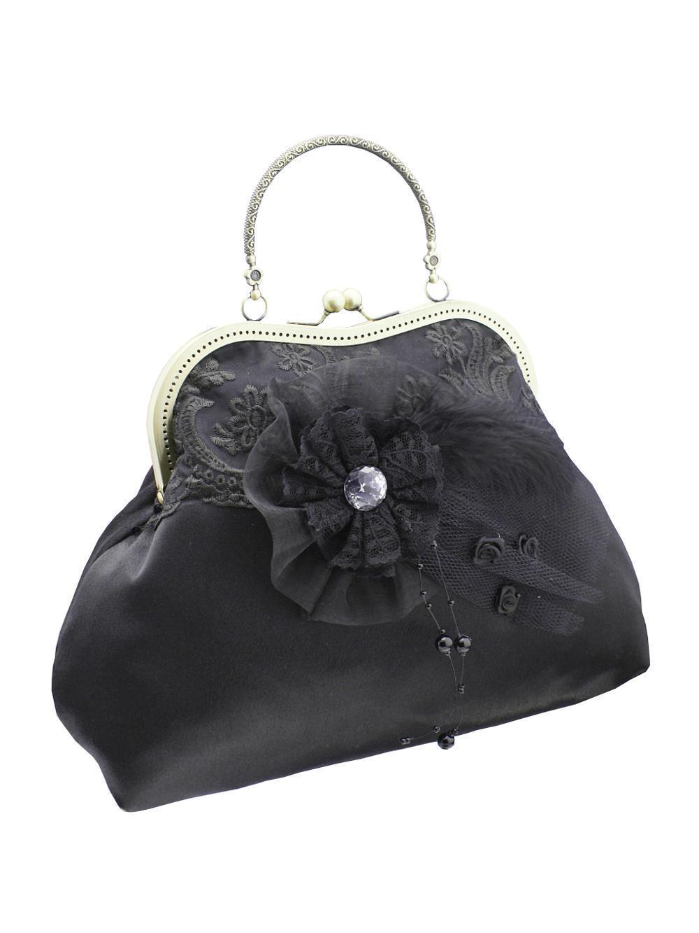 Dámská černá společenská kabelka 558   Zboží prodejce Gothic ... 54ad937af02