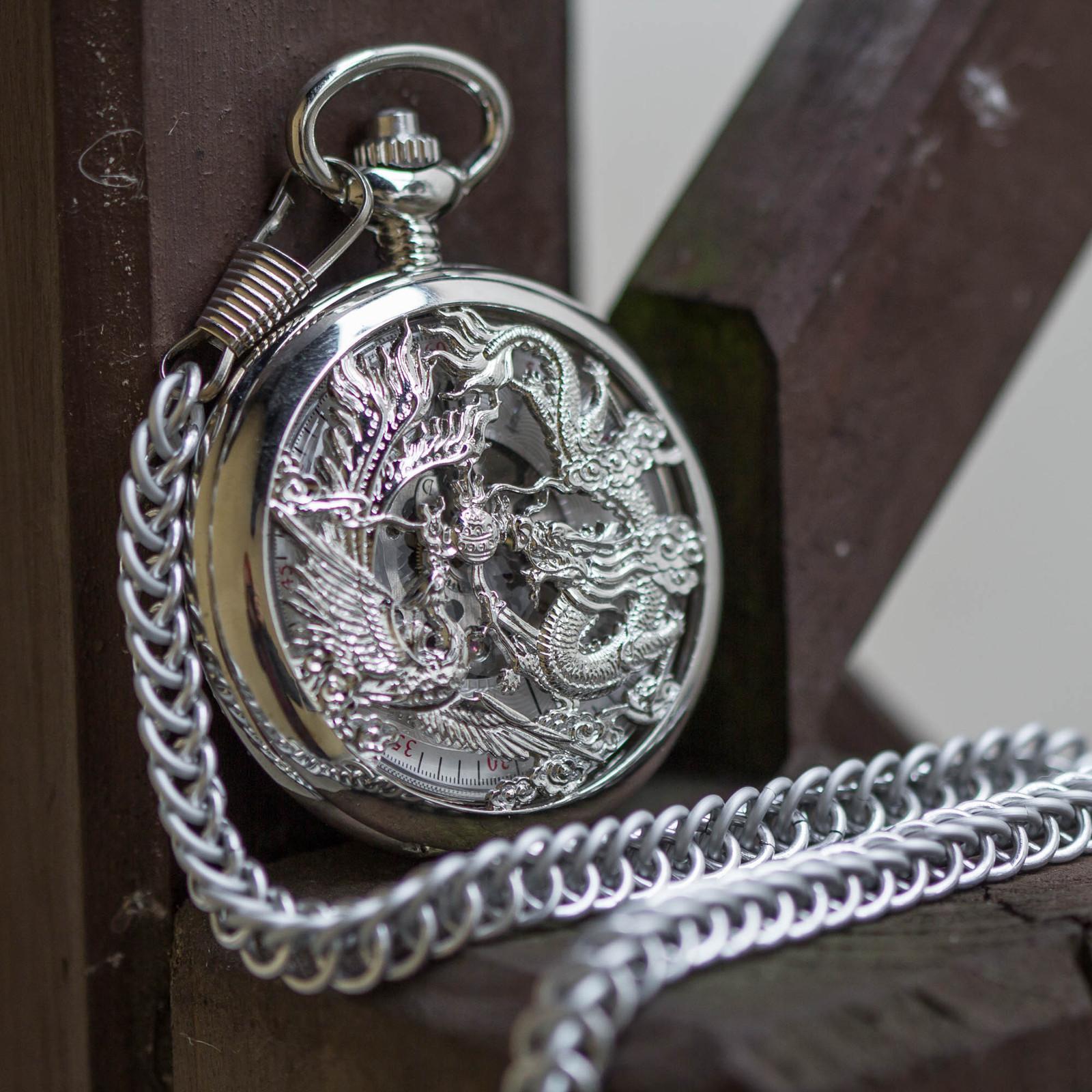728e20d25e3 Mechanické kapesní hodinky s kroužkovaným řetězem   Zboží prodejce ...