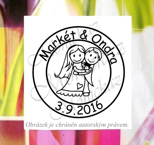 Svatební č. 8 kolečko. Omyvatelné razítko.   Zboží prodejce monickaz ... 8c2cd2a6479