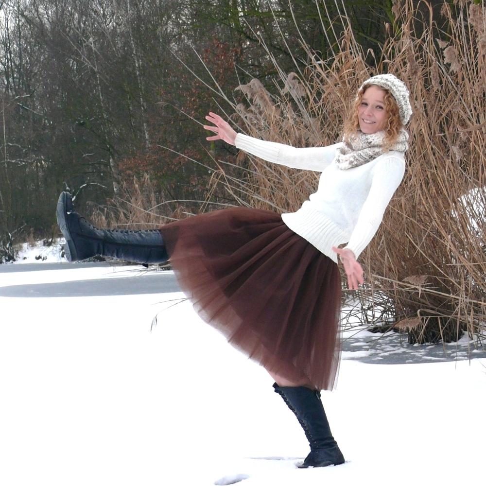 Hnědá tylová sukně-SKLADEM   Zboží prodejce Princezna Pampeliška ... 8360018dc4
