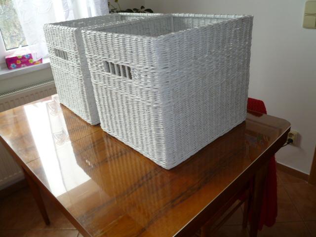 112e69204 Koše bílé do skříně 46x42/42 cm / Zboží prodejce LIA2010   Fler.cz