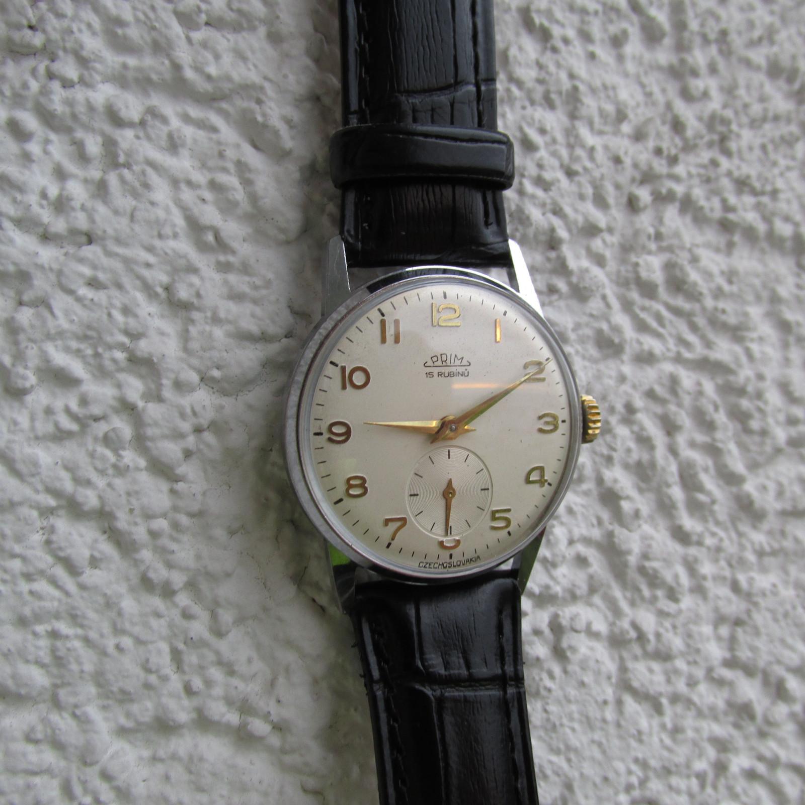 9e1f60048 Hodinky Prim, z roku 1960, mechanické,retro,unisex / Zboží prodejce ...