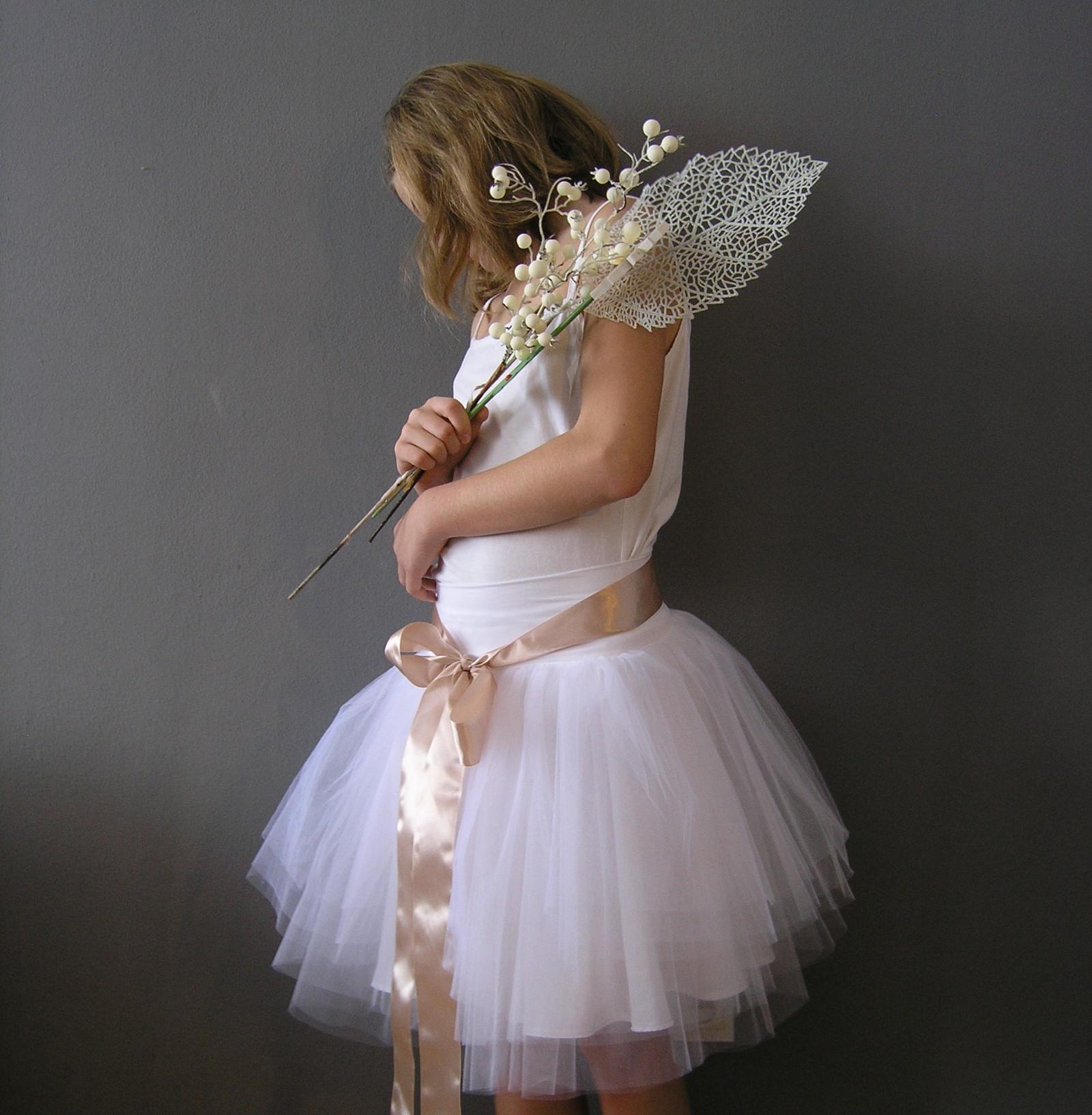 3d12e0d420c Svatební sukně bílá + stuha... na přání   Zboží prodejce ceasara ...