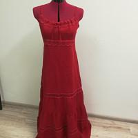 ae7eeb998efb Červené lněné šaty kanýrované · Zrozena pro krásu