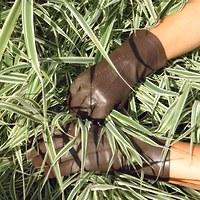 Hnědé dámské kožené rukavice s vlněnou podšívkou 1a0c4b48d8