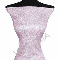 Lurexový třpytivý úplet - pudrově růžový 3717fc6b02b