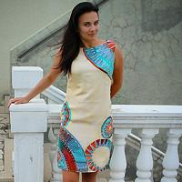 34b93e02b266 Ručně malované hedvábné šaty - Inspirace Gaudím
